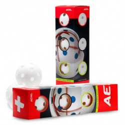 Aero plus pallina per floorball 4-pack - blanco